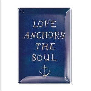 Fringe Catch All Glass Tray Love Anchors the Soul